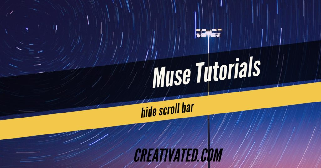 How to hide scroll bars in Adobe Muse created site - Free